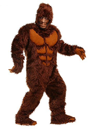 Kostüm Big Foot - Adult Bigfoot Fancy Dress Costume Medium