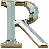 """5/cm silber aus Chrom Schrift /""""Times Roman/"""" Selbstklebende Autot/üraufkleber 3 D Buchstabe A"""