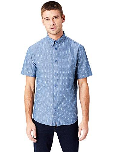 Find. camicia a manica corta uomo, grigio (grey), medium