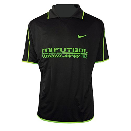 Nike Herren Dri-FIT Dry Shirt Training Top Fußball, Laufen, Fitness-Polo-T-Shirt, Größe XS-X X-large schwarz - Schwarz/Grün (Grün-reversibel-t-shirt)