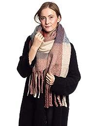 Abbino CG04 Schals für Frauen Damen - Viele Farben - Übergang Frühling Sommer  Herbst Damenschals Umschlagtücher Uni Jung… d54ba0e4d0