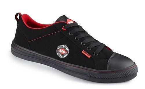 Lee Cooper lcshoe054SB/sra Baseball Chaussures de sécurité avec embout en acier - Noir - Noir, homme, 38