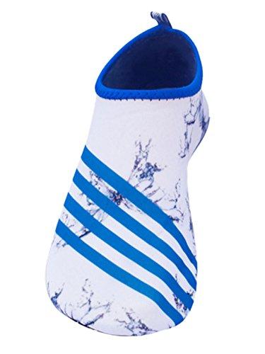 Feoya Unisexe Chaussures de Sport Aquatique Plage Plongée Natation Beach Surf Acquabike Antidérapant Maille Eté Séchage Rapide Femme Homme 11 Couleurs Blanc