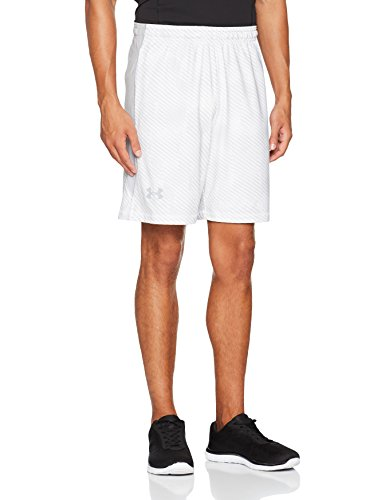 Under Armour Herren UA Raid 8 Novelty Shorts Kurze Hose, White, M (Shorts Weiß Running)