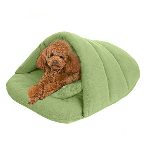 pet-padded-pet-bed-charcoal-fleece-cave-cushion-mat-sleeping-bag-provide-a-warm-home-to-your-puppy-k