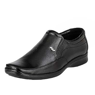 10e4fef52fd LeatherKraft Men s Black Genuine Leather Formal Slipon Shoe (5) (LKU1401BK5)