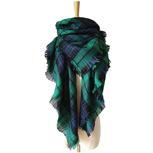Price comparison product image VINNEL® Tartan Fashion Scarfs for Women Lovely Best Gift Scarf Wrap Shawl (Green)