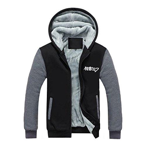 Xcoser Winter Kapuzenpullover Verdicken Jacke Hoody Cosplay Kostüm Reißverschluss Sweatshirt Mantel Verrücktes Kleid Kleidung