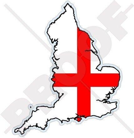 ENGLAND Englisch Karte Flagge, Britisch UK 123mm Auto & Motorrad Aufkleber, Vinyl Sticker -