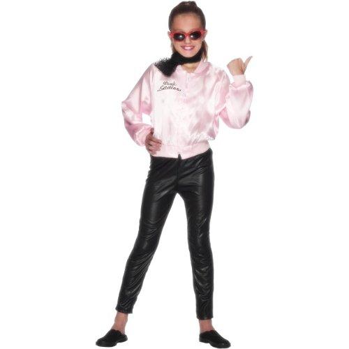 Smiffys Karneval Kinder Kostüm Pink Ladies Grease Jacke -