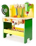 Werkbank aus Holz ab 3 Jahren, verschiedene  Holzspielzeuge inkl. Schrauben, Muttern und Lochbrettern