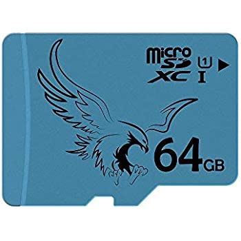 BRAVEEAGLE Tarjeta Micro SD de 64GB Clase 10 U1 Rendimiento de Lectura microSDXC hasta 80MB / s Tarjeta de Memoria para Galaxy Note/Phone/Gopro/Hero ...