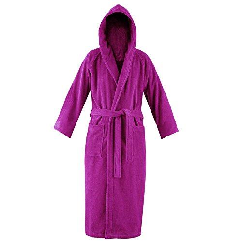 Fk Styles® Unisex Mit Kapuze Bademantel 100% Ägyptisch Baumwolle Terry Weich Frottierstoff Dressing (Kleid Ägyptischen)