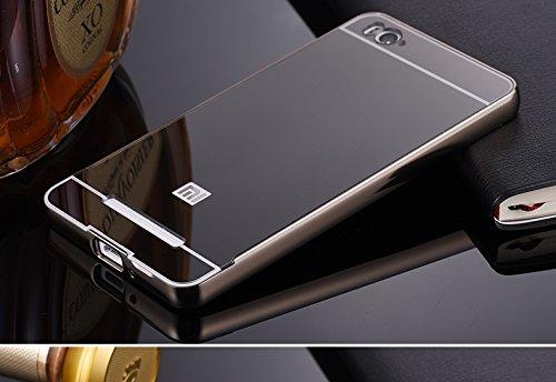 Xiaomi Redmi MI4I/Mi4i (old Model) - New Black Stylish Premium Luxury Metal Bumper + Acrylic Mirror Back Cover Case - Buy (KTC Plus)