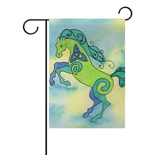 Gartenflagge Cartoon Lovely Horse 30,5 x 45,7 cm Banner doppelseitig für Rasen Hof Outdoor Dekoration, Polyester, Image 751, 28x40(in)