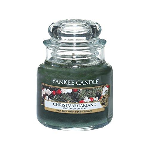 Ob Garland (Yankee Candle Christmas Garland Duftkerze im Glas, grün, 6 x 6 x 8.9 cm)
