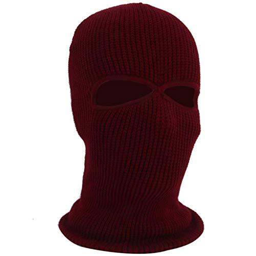 AmyGline 3-Loch-Vollmaske Skimütze Wintermütze Balaclava Tactical Mask Skimütze Wollmaske (Weißen Beängstigend Gesicht)
