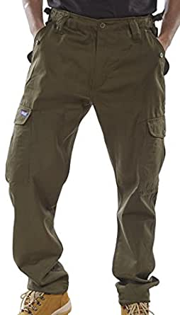 COMBAT TROUSERS OLIVE GREEN 38
