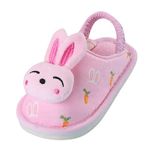 Cuteelf Kinderschuhe Cartoon Sterne Kaninchen Hirsch warme Baumwollpantoffeln Gummiband kühle Pantoffeln Sterne Sterne Kaninchen Schuhe warme Hauspantoffeln Rutsche