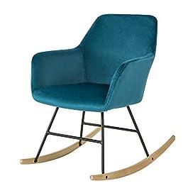 SoBuy® FST68-P Chaise à Bascule avec Accoudoirs Fauteuil à Bascule Rocking-Chair Fauteuil de Relaxation Pieds en Métal…
