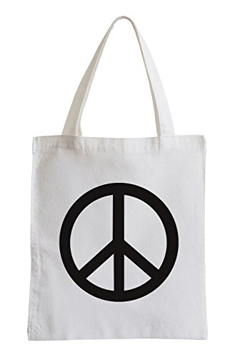 PEACE RETRO HIPPIE FLOWER POWER 60er 70er Jutebeutel