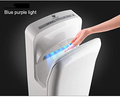41scqUpwPcL - Double-sided Jet Smart Hand Dryer, Wall-mounted, High-speed Powerful, No Noise, Energy Efficient, with UV Germicidal…