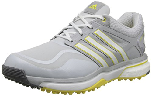 adidas Women's W Adipower S Boost-W, Clear Grey/Running White/Light Yellow, 8.5 M US