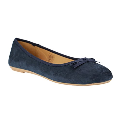 Bild von Fitters Footwear - Helen - Damen Ballerinas - Blau Schuhe in Übergrößen