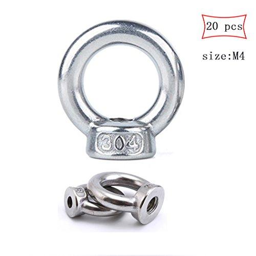 M5 Ring Form Lifting Eye 304 Edelstahl Gewinde Nut Verschluss-20 Pack