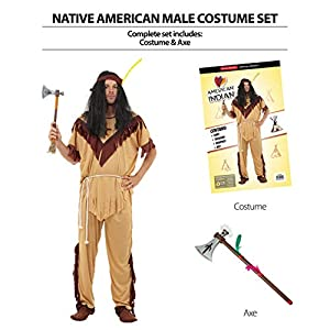 Bristol Novelty AP021 - Disfraz de Nativo Americano para Hombre,, Talla única