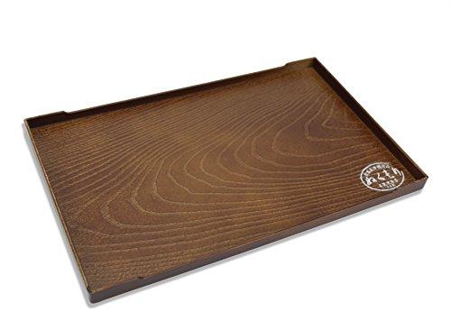 iertablett, Simuliert Holzmaserung Design, 25,3cm, für Tee, Sake, Sushi, Sashimi. ()