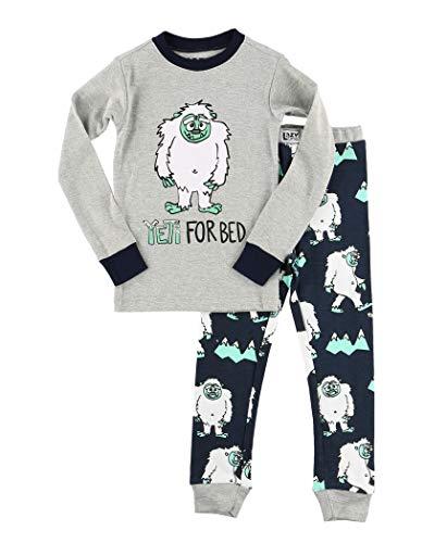 yjama für die ganze Familie, gestreift, festlicher Weihnachts-Pyjama Gr. 4 Jahre, Yeti for Bed Boy Pajama Sets ()