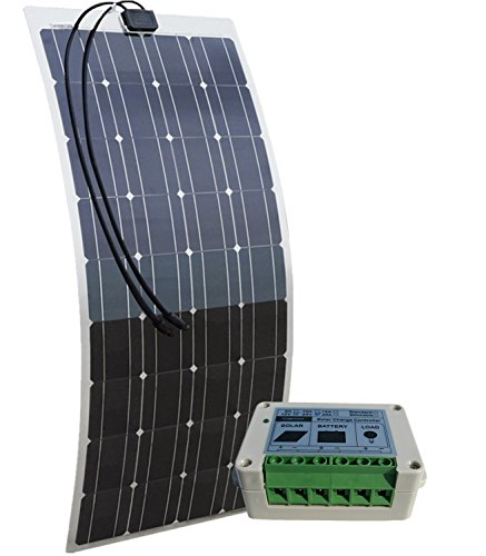 ECO-WORTHY 12V 100W Semi-Flexible Monokristalline Solarmodul Berechnen: 12 Volt 100 Watt Pv Solar-Panel + 15A Laderegler Für Marine Rv Boot Batterielade 12V-System