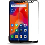 KOKO 6D Tempered Glass With Curved Edges And 9H Hardness - Full Glue Edge-Edge Screen Protection For Redmi Note 6 Pro (Black) (Limited Period Launch Offer)