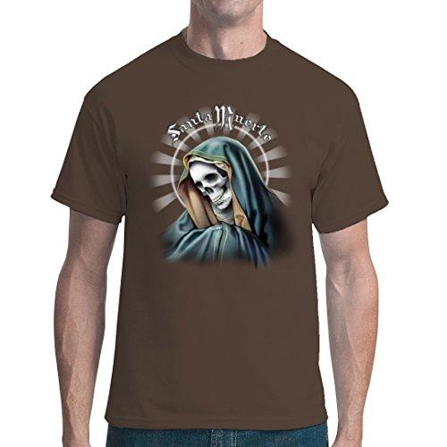 Gothic Fantasy unisex T-Shirt - Santa Muerte - Der Heilige Tod by Im-Shirt Bear Brown