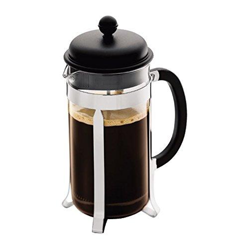 Bodum CAFFETTIERA Kaffeebereiter 8Tassen 1L 34oz schwarz (4Stück) (Grill Bodum)