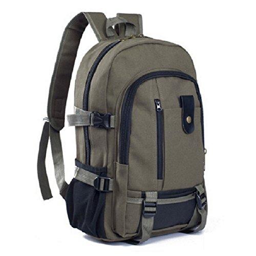 Unisex Rucksack, grün, Olivgrün, Schulrucksack, viele Fächer, original, Zip, Laptop, Tasche, Schule, NEU, Militär, cooles Design (Zip-laptop-tasche Top)
