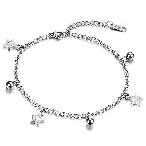 Dazzle Flash® Edelstahl hypoallergen fünfzackigen Stern Charm-Armbänder Fußkettchen für Fuß 2Möglichkeiten Jewelry B221–8 (Sexy Thong Butterfly)