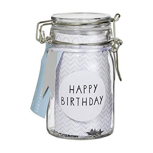 Räder Herzstücke Geschenkglas Happy Birthday