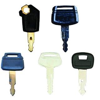 BAAQII 5X Bagger Schlüssel für Caterpillar Hitachi Kobelco Komatsu Kubota Bagger
