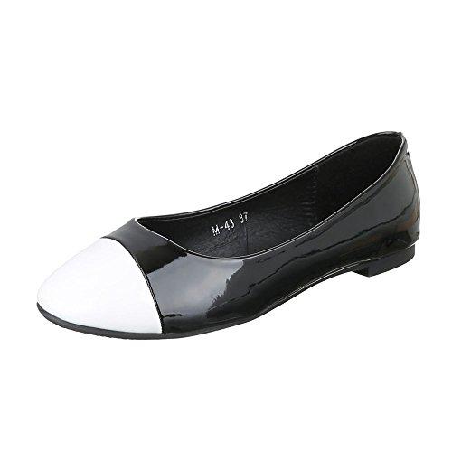 Ital-Design, Ballerine donna Nero/Bianco