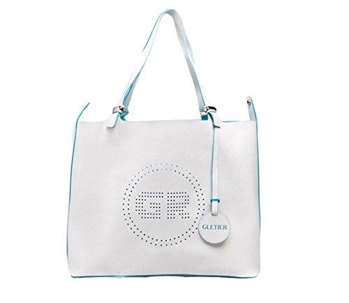 ifoutlet pacchetto completo di modifica multifunzione in pelle borsa multicolore, Blue (blu) - womens White