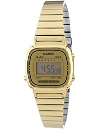 Casio Collection - Damen-Armbanduhr mit Digital-Display und Edelstahlarmband - LA670WEGA-9EF