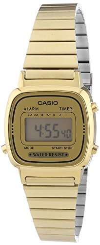 Casio Collection Frauen-Armbanduhr Digital Edelstahl – LA670WEGA-9EF