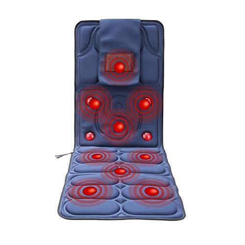 Colchoneta de masaje con calor vibratoria