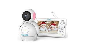 """HOMIEE Baby Monitor Video da 5"""" HD Schermo a Colori,Supporta Fino a 4 Telecamere"""