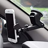 CQLEK® Car Mobile Phone Holder Long Neck One Touch Mount Holder 360° Touch