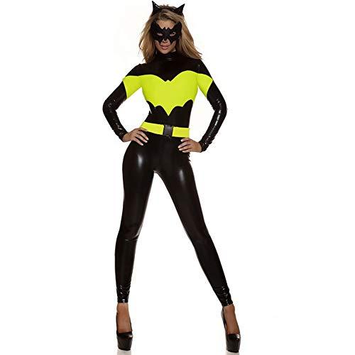 Frauen Halloween Kostüm Damen Sexy Erwachsene Overall Batman Superhero Kleidungsstrumpfhose (Batman Kostüm Sexy)