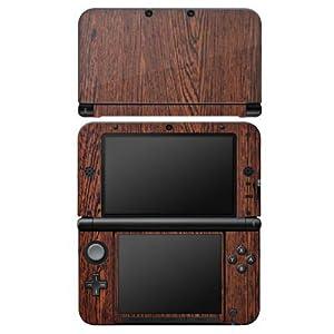 Nintendo DS Case Skin Sticker aus Vinyl-Folie Aufkleber Nussbaum Holz Look Holzboden