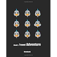 Alook's Travel Adventure Notebook: (120 Page Lined Notebook With Illustrations, 8.5 x 11 Large Notebook)